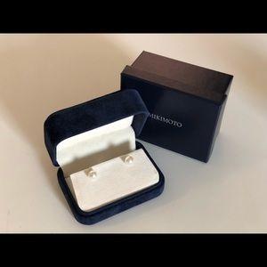Mikimoto Jewelry - Mikimoto 7mm Ayoka Stud Earrings in 18K White Gold
